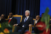 Former President Bill Clinton is shown at the funeral of former U.S. Congressman John Conyers Jr. (D-MI) at Greater Grace Temple on November 4, 2019 in Detroit, Michigan. Conyers, who died on October 27 at the age of 90, was the longest serving African American member of the U.S House of Representatives in U.S. history, and the third longest serving House member, having held the office for more than 50 years.
