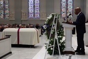 U.S. Rep. John Lewis (D-GA) speaks during the funeral mass for former Rep. John Dingell (D-MI) at Holy Trinity Church February 14, 2019 in Washington, DC. Rep. Dingell, the longest serving member of the House of Representatives, representing Michigan's 12th, 15th and 16th districts between 1955 and 2015, passed away on Feb 7, 2019 at the age of 92.