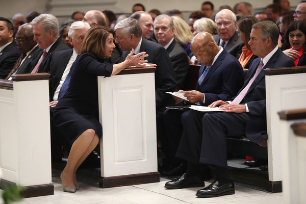 Funeral Mass Held For Rep. John Dingell At D.C.'s Holy Trinity Catholic Church