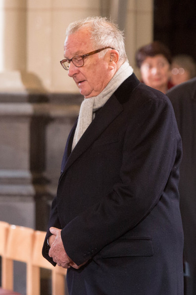 King Albert of Belgium attends the funeral of Queen Fabiola at Notre Dame Church on December 12, 2014 in Laeken, Belgium.