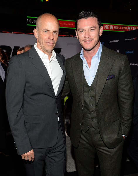 Luke Evans in 'Furious 7' Los Angeles Premiere - Zimbio