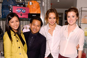 (L-R) Serena Wong, Elgene Castueras, Kelly Framel and Erin Framel attend Furla X the Glamourai at Bloomingdale's 59th Street Store on June 12, 2014 in New York City.