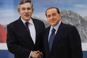 Gordon Brown Silvio Berlusconi Photos Photo