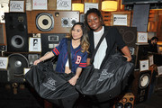 Singers Jessica Sanchez and Lanita Smith attend the GBK Pre Grammy Lounge at Tom's Urban at L.A. Live on February 14, 2016 in Los Angeles, California.