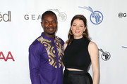 David Oyelowo and Jessica Oyelowo attend the GEANCO Foundation Hollywood Gala at SLS Hotel on October 10, 2019 in Beverly Hills, California.