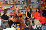 Alison Brie, Betty Gilpin, Liz Flahive and Carly Mensch speak onstage at the 'GLOW' Season 3 Special Screening At The Wing LA at The Wing on August 06, 2019 in West Hollywood, California.
