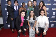(L-R) Elle Smith, Matthew Yekell, El Martinez, Ayana Boyd, Liv Hewson, Jessica Chiriboga, Darid Prom, Eric Samelo, and Soli Guzman attend the GLSEN Respect Awards Los Angeles at the Beverly Wilshire Four Seasons Hotel on October 25, 2019 in Beverly Hills, California.