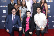 (L-R) Elle Smith, Matthew Yekell, Ayana Boyd, Jessica Chiriboga, Raymond Braun, El Martinez, Darid Prom, Eric Samelo, and Soli Guzman attend the GLSEN Respect Awards Los Angeles at the Beverly Wilshire Four Seasons Hotel on October 25, 2019 in Beverly Hills, California.