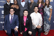 (L-R) Elle Smith, Matthew Yekell, Ayana Boyd, Roberto Aguirre-Sacasa, El Martinez, Darid Prom, Eric Samelo, Soli Guzman, and Jessica Chiriboga attend the GLSEN Respect Awards Los Angeles at the Beverly Wilshire Four Seasons Hotel on October 25, 2019 in Beverly Hills, California.