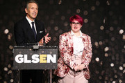 Howard Schultz (L) and Anais Canepa speak onstage at the GLSEN Respect Awards at the Beverly Wilshire Four Seasons Hotel on October 19, 2018 in Beverly Hills, California.