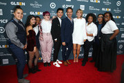 GLSEN National Student Council Members pose with Eric McCormack and Janet Holden at the GLSEN Respect Awards at the Beverly Wilshire Four Seasons Hotel on October 19, 2018 in Beverly Hills, California.