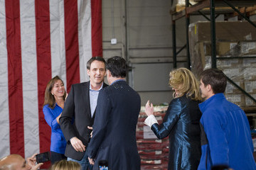 Tim Pawlenty GOP Candidate Mitt Romney Campaigns In Minnesota Day After FL Primary