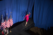 Carly Fiorina walks on stage before introducing Republican presidential candidate Sen. Ted Cruz (R-TX) at their election night watch party at the Crowne Plaza Downtown Union Station where he announced he was suspending his bid for the Republican presidential nomination on May 3, 2016 in Indianapolis, Indiana.