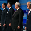 Rick Perry and Newt Gingrich Photos