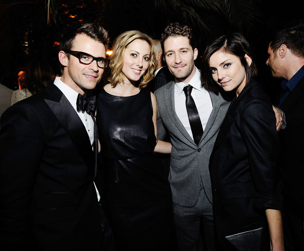 (L-R) Stylist Brad Goreski, actress Eva Amurri, actor Matthew Morrison and