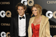 """Atletico de Madrid Football player Diego Forlan and Zaira Nara attend """"GQ Magazine Awards 2010"""" at Palace Hotel on November 22, 2010 in Madrid, Spain."""