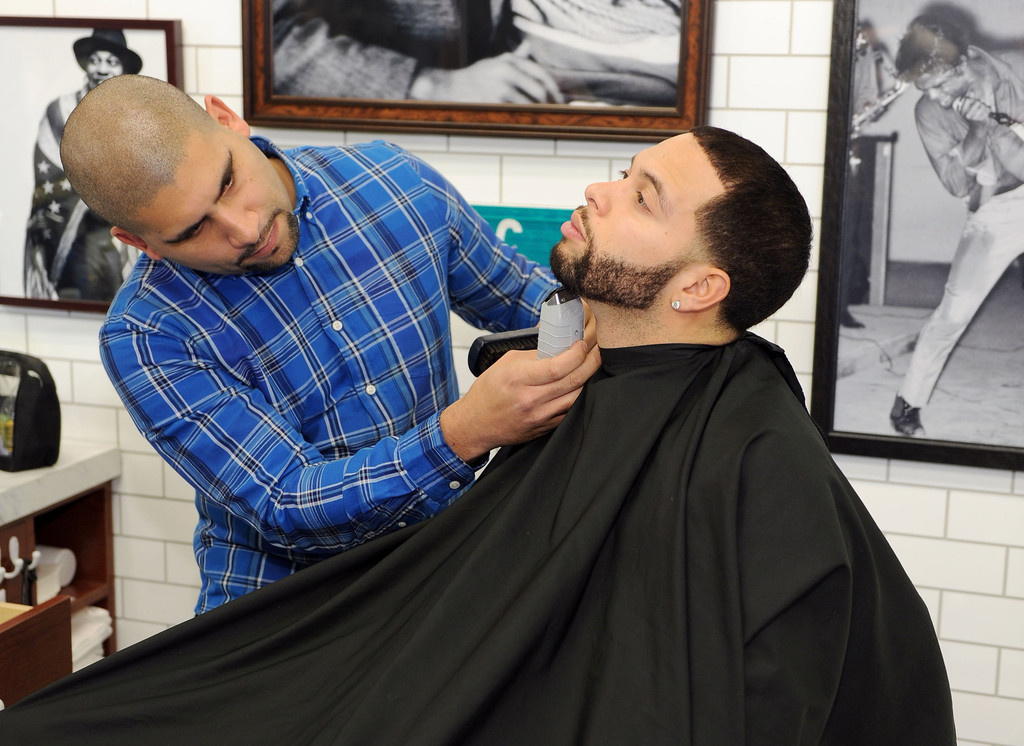 Deron Williams Pictures GQ Barber Shop Grand Opening -