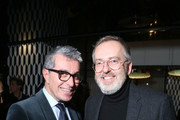 Jim Moore (R) and Giorgio Guidotti attend GQ's Celebration of GQ Style Editor-In-Chief Will Welch during Milan Men's Fashion Week Fall/Winter 2016/2017 on January 16, 2016 at Mandarin Bar in Milan, Italy.