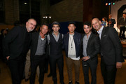 (L-R) GQ Creative Director Jim Moore, GQ Editor-in-Chief Jim Nelson, Joe Jonas, designer Richard Chai, Kevin Jonas and Vice President and Publisher of GQ Chris Mitchell attend the GQ & Gap event to celebrate 2013 Best New Menswear Designers Collaboration on September 23, 2013 in New York City.