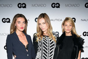 Alina Baikova, Andreja Pejic and Michaela Kocianova attend the GQ Gentlemen's Fund cocktail reception + awards ceremony at The Gent on October 22, 2015 in New York City.