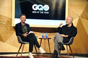 (L-R) Jim Nelson and Ryan Murphy speak onstage at GQ Live - American Genius Story: The Mind Of Ryan Murphy at NeueHouse Los Angeles on December 08, 2018 in Hollywood, California.