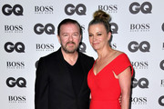Ricky Gervais and Jane Fallon arrive for GQ Men Of The Year Awards 2016 at Tate Modern on September 6, 2016 in London, England.