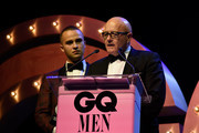 Mojean Aria and Kim Ledger accepts the GQ Legacy Award during the GQ Men Of The Year Awards Ceremony at The Star on November 15, 2017 in Sydney, Australia.