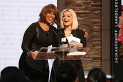 Gayle King, and Bebe Rexha speak onstage at the GRAMMY Nominations Press Conference at CBS Studios on November 20, 2019 in New York City.