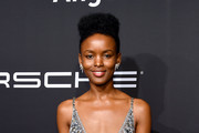 Flaviana Matata arrives at the Angel Ball 2019 hosted by Gabrielle's Angel Foundation at Cipriani Wall Street on October 28, 2019 in New York City.