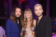 (L-R) Tom Kaulitz, Heidi Klum and Bill Kaulitz attend the Angel Ball 2019 hosted by Gabrielle's Angel Foundation at Cipriani Wall Street on October 28, 2019 in New York City.