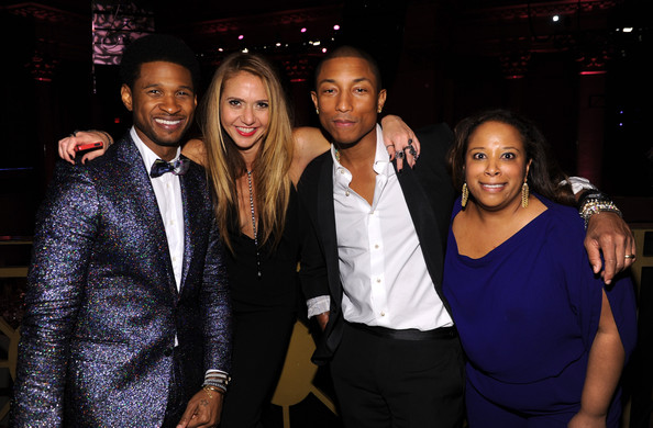 Usher, Ofira Sandberg, Pharrell Williams, and Keisha Escoffery attend