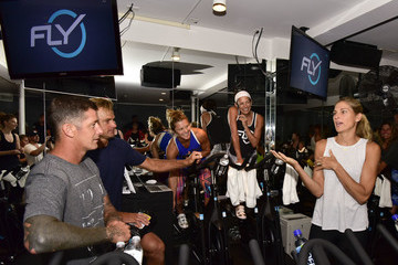 Gabrielle Reece Flywheel VIP Ride With Special Guests Laird Hamilton And Gabrielle Reece Led By Ruth Zukerman And Holly Rilinger - 8.8.16, East Hampton, NY
