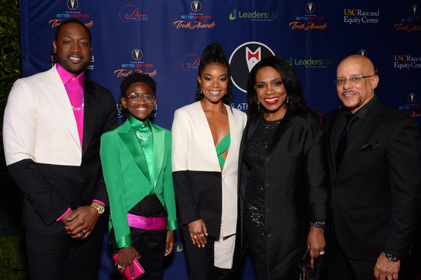 Better Brothers Los Angeles' 6th Annual Truth Awards [event,formal wear,suit,premiere,team,performance,brothers,dwyane wade,zaya wade,vincent hughes,sheryl lee ralph,gabrielle union,6th annual truth awards,l-r,los angeles,better brothers los angeles,public relations,carpet,socialite,public]