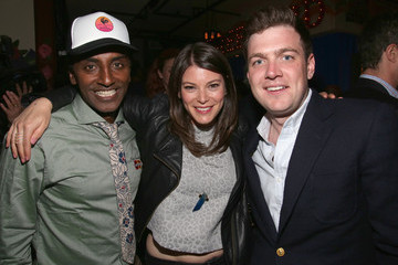 Gail Simmons Max Silvestri Marcus Samuelsson's Streetbird Rotisserie Opening Party Featuring Qkr! With MasterPass