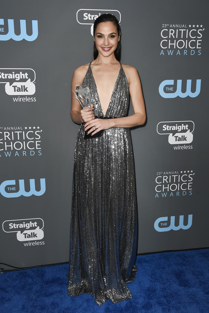 Gal Gadot The 23rd Annual Critics' Choice Awards in Santa Monica, CA January 11-2018