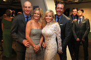 (L-R) Jim Furyk, Tabitha Furyk, Amy Mickelson, Phil Mickelson, Jimmy Walker and Rickie Fowler of the United States pose during the 2014 Ryder Cup Gala Concert at the SSE Hydro on September 24, 2014 in Glasgow, Scotland.