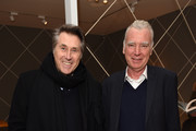 Brian Ferry and Patrick Seguin attend the opening of a Jean Royere Exhibition at Galerie Patrick Seguin London on February 25, 2016 in London, England.