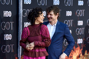 """Indira Varma and Pedro Pascal attend the """"Game Of Thrones"""" Season 8 Premiere on April 03, 2019 in New York City."""
