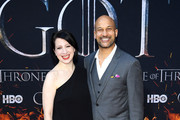 """Elisa Pugliese and Keegan-Michael Key attend the """"Game Of Thrones"""" Season 8 Premiere on April 03, 2019 in New York City."""