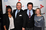 (L-R) Monique Coleman, Aaron Sherinian, Nicholas D. Kristof and Kathy Calvin attend Games For Change presents the launch of Half The Sky Movement: The Game at No. 8 on March 4, 2013 in New York City.