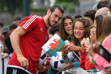 Gareth Bale Wales Training Session and Press Conference
