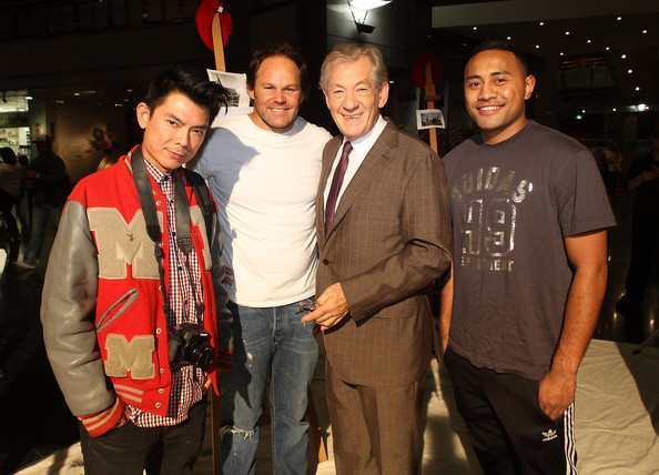 Rise Up Christchurch Telethon Appeal [picture,event,t-shirt,smile,party,ian mckellen,nua finau,josh kronfiled,r,garry young,new zealand,rise up christchurch telethon appeal,2nd l,telethon appeal event]