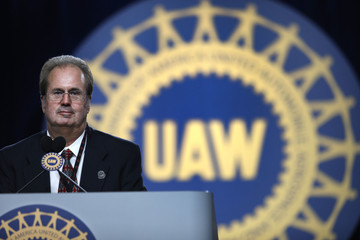 Gary New UAW President Addresses Annual UAW Convention