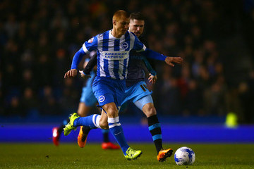 Gary Hooper Brighton and Hove Albion v Sheffield Wednesday - Sky Bet Championship