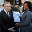 Shirley King Gary Locke And Actor Kal Penn Join Harry Reid At Campaign Event