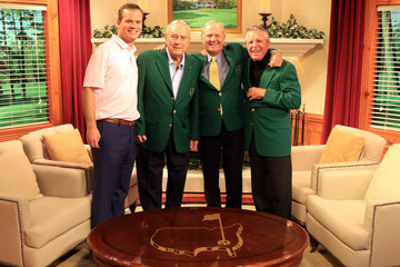 Gary Player Arnold Palmer The Masters - Preview Day 3
