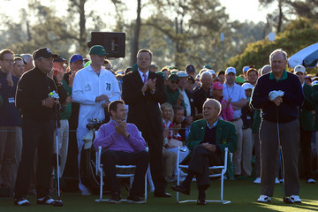 Gary Player Arnold Palmer The Masters - Round One