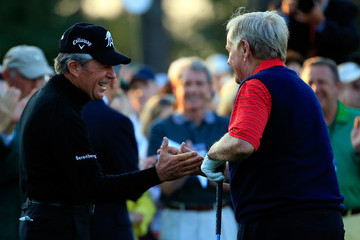 Gary Player Jack Nicklaus The Masters - Round One