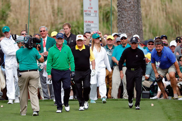 Gary Player Tom Watson The Masters - Preview Day 3