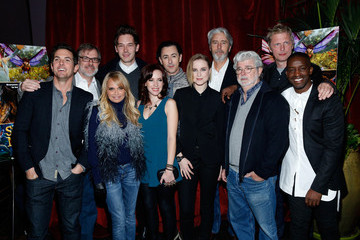Gary Rydstrom George Lucas, Alan Cumming, Evan Rachel Wood, Elijah Kelley, Meredith Anne Bull, Sam Palladio And Kristin Chenoweth Attend The New York Special Screening Of Lucasfilm's STRANGE MAGIC At The Tribeca Grand Hotel Hosted By The Cinema Society